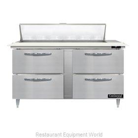 Continental Refrigerator D60N12C-D Refrigerated Counter, Sandwich / Salad Unit