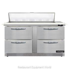 Continental Refrigerator D60N12C-FB-D Refrigerated Counter, Sandwich / Salad Uni