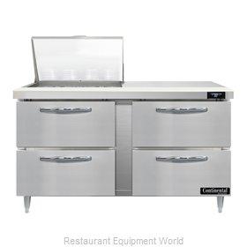 Continental Refrigerator D60N12M-D Refrigerated Counter, Mega Top Sandwich / Sal
