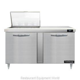 Continental Refrigerator D60N12M Refrigerated Counter, Mega Top Sandwich / Salad