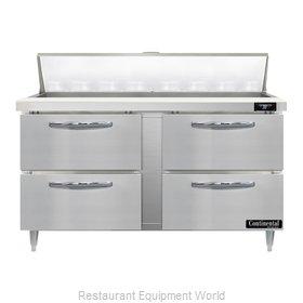 Continental Refrigerator D60N16-D Refrigerated Counter, Sandwich / Salad Unit