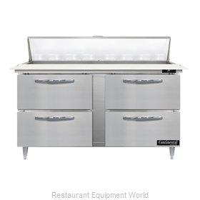 Continental Refrigerator D60N16C-D Refrigerated Counter, Sandwich / Salad Unit