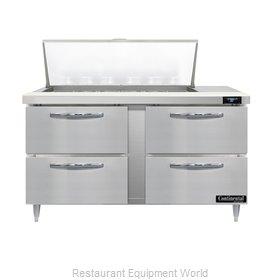 Continental Refrigerator D60N18M-D Refrigerated Counter, Mega Top Sandwich / Sal