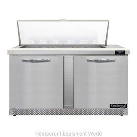 Continental Refrigerator D60N18M-FB Refrigerated Counter, Mega Top Sandwich / Sa