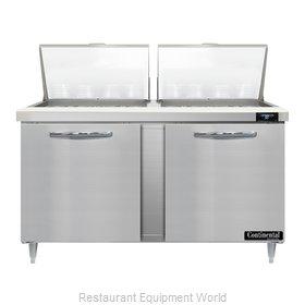 Continental Refrigerator D60N24M Refrigerated Counter, Mega Top Sandwich / Salad