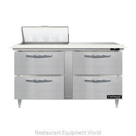 Continental Refrigerator D60N8C-D Refrigerated Counter, Sandwich / Salad Unit