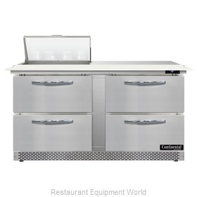 Continental Refrigerator D60N8C-FB-D Refrigerated Counter, Sandwich / Salad Unit