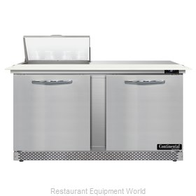 Continental Refrigerator D60N8C-FB Refrigerated Counter, Sandwich / Salad Unit