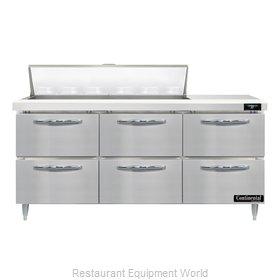 Continental Refrigerator D72N12-D Refrigerated Counter, Sandwich / Salad Unit