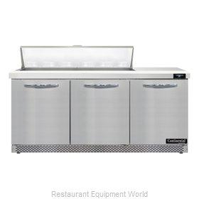 Continental Refrigerator D72N12-FB Refrigerated Counter, Sandwich / Salad Unit