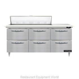 Continental Refrigerator D72N12C-D Refrigerated Counter, Sandwich / Salad Unit