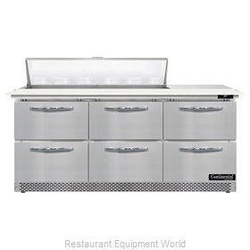 Continental Refrigerator D72N12C-FB-D Refrigerated Counter, Sandwich / Salad Uni