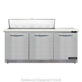 Continental Refrigerator D72N12C-FB Refrigerated Counter, Sandwich / Salad Unit