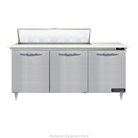 Continental Refrigerator D72N12C Refrigerated Counter, Sandwich / Salad Unit