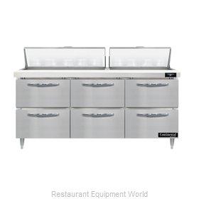 Continental Refrigerator D72N18-D Refrigerated Counter, Sandwich / Salad Unit