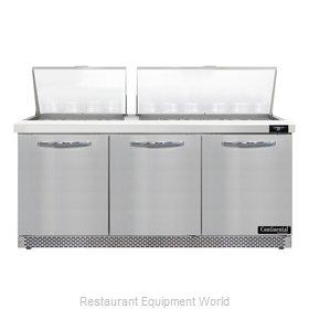 Continental Refrigerator D72N30M-FB Refrigerated Counter, Mega Top Sandwich / Sa