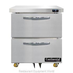 Continental Refrigerator DF27N-U-D Freezer, Undercounter, Reach-In