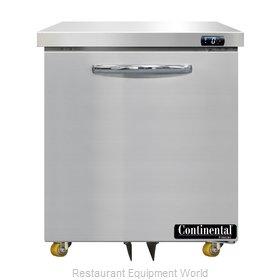 Continental Refrigerator DF27N-U Freezer, Undercounter, Reach-In