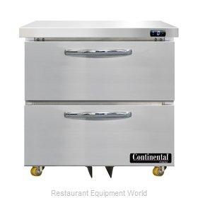 Continental Refrigerator DF32N-U-D Freezer, Undercounter, Reach-In