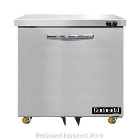 Continental Refrigerator DF32N-U Freezer, Undercounter, Reach-In