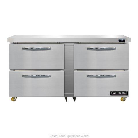 Continental Refrigerator DF60N-U-D Freezer, Undercounter, Reach-In