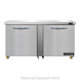 Continental Refrigerator DF60N-U Freezer, Undercounter, Reach-In