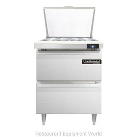 Continental Refrigerator DL27-12M-D Refrigerated Counter, Mega Top Sandwich / Sa