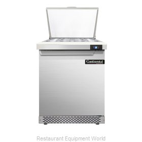 Continental Refrigerator DL27-12M-FB Refrigerated Counter, Mega Top Sandwich / S