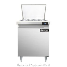 Continental Refrigerator DL27-12M Refrigerated Counter, Mega Top Sandwich / Sala