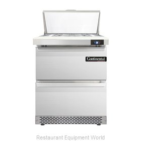 Continental Refrigerator DL27-8-FB-D Refrigerated Counter, Sandwich / Salad Top