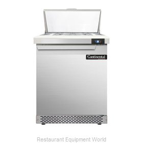Continental Refrigerator DL27-8-FB Refrigerated Counter, Sandwich / Salad Top
