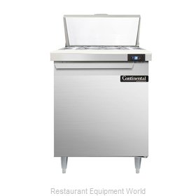 Continental Refrigerator DL27-8 Refrigerated Counter, Sandwich / Salad Top