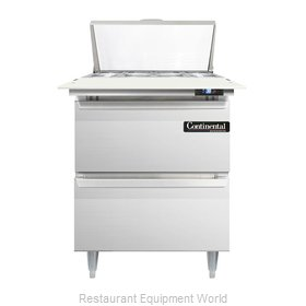 Continental Refrigerator DL27-8C-D Refrigerated Counter, Sandwich / Salad Top