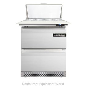 Continental Refrigerator DL27-8C-FB-D Refrigerated Counter, Sandwich / Salad Top