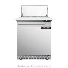 Continental Refrigerator DL27-8C-FB Refrigerated Counter, Sandwich / Salad Top
