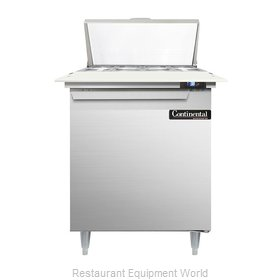 Continental Refrigerator DL27-8C Refrigerated Counter, Sandwich / Salad Top