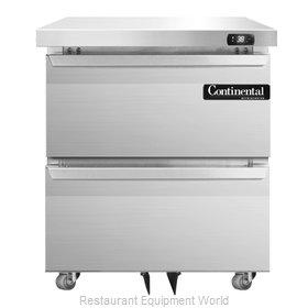 Continental Refrigerator DL27-SS-U-D Refrigerator, Undercounter, Reach-In