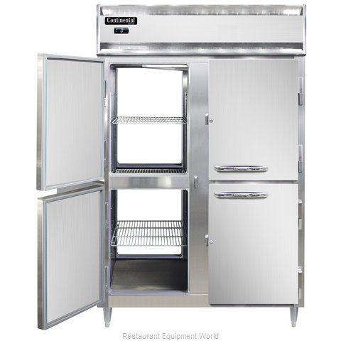 Continental Refrigerator DL2F-SS-PT-HD Freezer, Pass-Thru