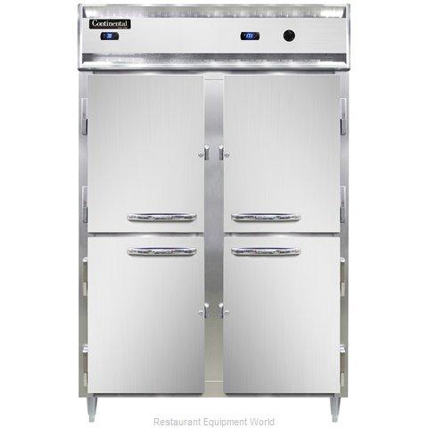 Continental Refrigerator DL2RW-SS-PT-HD Refrigerated/Heated Pass-Thru, Dual Temp
