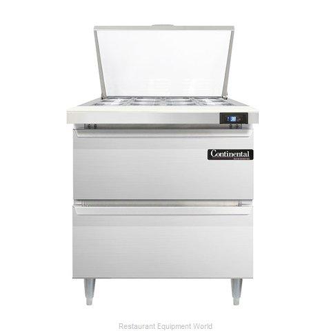 Continental Refrigerator DL32-12M-D Refrigerated Counter, Mega Top Sandwich / Sa