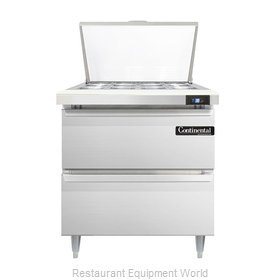 Continental Refrigerator DL32-12M-D Refrigerated Counter, Mega Top Sandwich / Sa