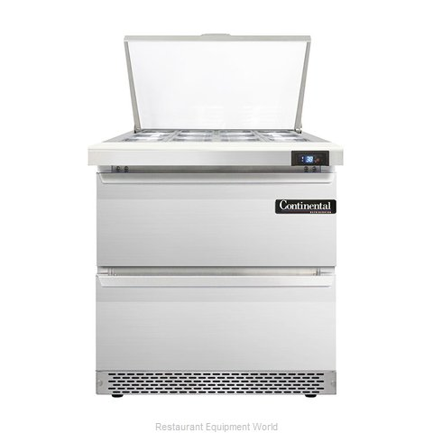 Continental Refrigerator DL32-12M-FB-D Refrigerated Counter, Mega Top Sandwich /