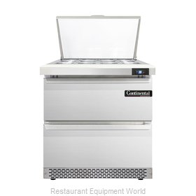 Continental Refrigerator DL32-12M-FB-D Refrigerated Counter, Mega Top Sandwich /