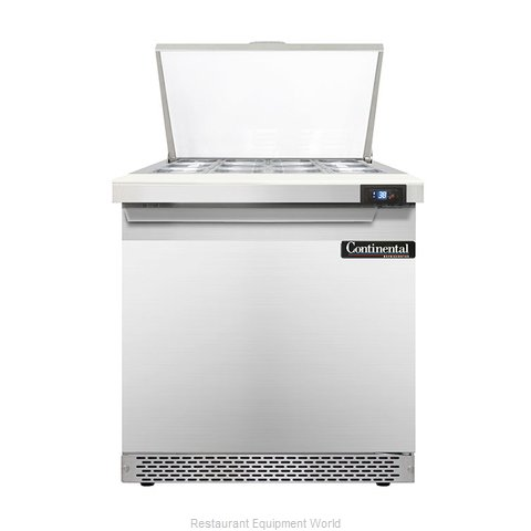 Continental Refrigerator DL32-12M-FB Refrigerated Counter, Mega Top Sandwich / S