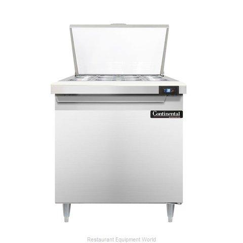 Continental Refrigerator DL32-12M Refrigerated Counter, Mega Top Sandwich / Sala