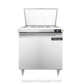 Continental Refrigerator DL32-12M Refrigerated Counter, Mega Top Sandwich / Sala
