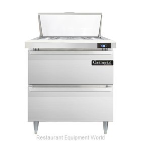 Continental Refrigerator DL32-8-D Refrigerated Counter, Sandwich / Salad Top