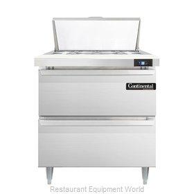 Continental Refrigerator DL32-8-D Refrigerated Counter, Sandwich / Salad Top