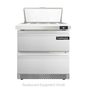 Continental Refrigerator DL32-8-FB-D Refrigerated Counter, Sandwich / Salad Top