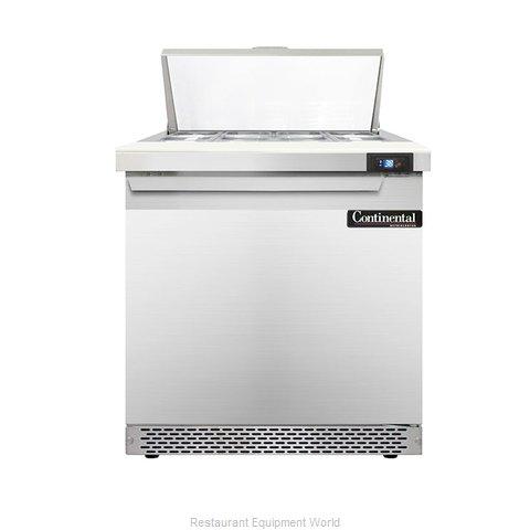 Continental Refrigerator DL32-8-FB Refrigerated Counter, Sandwich / Salad Top